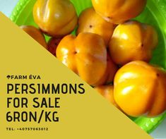 Diospyros kaki or Persimmons for sale, at 6ron/kg. Tel: +40757063012 Fresh Fruits And Vegetables, Stuffed Peppers, Canning, Stuffed Pepper, Home Canning, Stuffed Sweet Peppers, Conservation