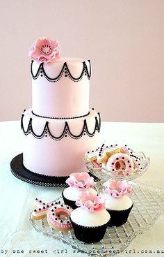 One Sweet Girl   Pink cakes