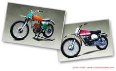 """The 1970s were the """"high water mark"""" of interest in motorcycling in the United States. At this point, designers and factories were still figuring out the best design for bikes, leading to huge variety of styles. http://www.aacamuseum.org/exhibitions/dusty-jewels-off-road-motorcycles.aspx#"""