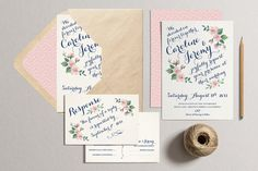 Printable Wedding Invitation Set Vintage Wedding Suite by plpapers