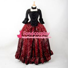 Free Shipping Victorian Rococo Medieval Gown Gothic Ball Dress Cosplay Costume…