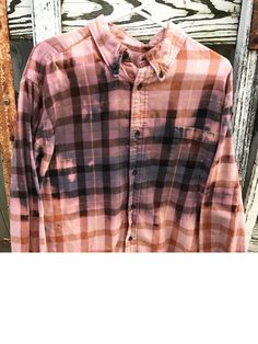 18720914086bc Bleached Grunge Flannel by GrungeFlannelsbySara on Etsy Purple Flannel