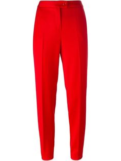 BOUTIQUE MOSCHINO Cropped Tapered Trousers. #boutiquemoschino #cloth #trousers