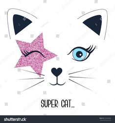 Find Super Cat Face Cat Illustration Vector stock images in HD and millions of other royalty-free stock photos, illustrations and vectors in the Shutterstock collection. Face Illustration, Illustration Pictures, Vintage Kids Photography, Happy Kids Quotes, Children Sketch, Cat Applique, Kawaii Faces, Disney Animator Doll, Super Cat