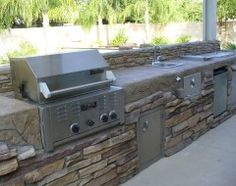 contemporary patio Barbecue, I like it! Simple yet functional!