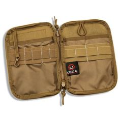 Orca Tactical MOLLE Gadget EDC Utility Pocket Pouch Organizer - COYOTE  Largest MOLLE EDC Utility Pouch on the market. Tons of room to store your every day or tactical essentials. Fits any size smartphone including the iPhone 7 and Samsung Galaxy S8!