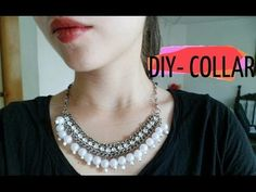DIY- Collar cadena con perlas y cuentas de cristal /Necklace chain - YouTube