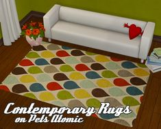 I have something to share! I actually saw this in allisas' wishlist, so I made 8 recolors of the Atomic rug from Pets EP. I hope you like it! :D Credits: RugsUSA Swatch is included :) Downoad! - Alternate