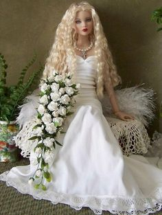 Cami doll with hand made wedding bouquet
