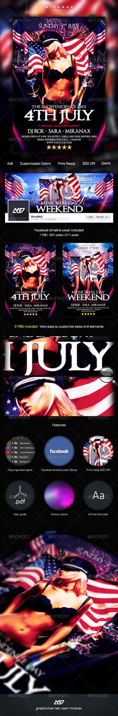 graphicriver memorial day weekend party flyer templates