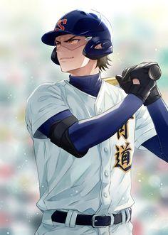 Hot Baseball Guys, Baseball Anime, Miyuki Kazuya, Cool Anime Pictures, Diamond Wallpaper, Haikyuu, Fangirl, Anime Art, Cartoon