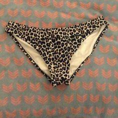 Cheetah cheeky bikini bottoms Cheetah. Never worn. From target! Xhilaration Swim Bikinis