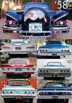 1958 - 1964 Chevrolet Rear Identification Chart