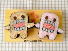 Domo Kun Sushi Art Roll どーもくんの飾り巻き寿司 - Little Miss Bento