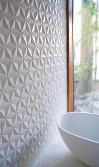 Texture in tile. These concrete tiles from Portland Cement Company via Filmore Clark