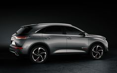 Download wallpapers DS 7 Crossback, 2017, 4k, New crossover, X74, Citroen, French cars, side view, new cars