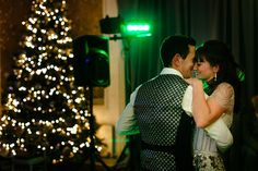 First dance at a winter wedding at The George in Rye