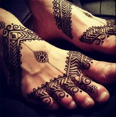 Man Foot Henna Design #henna #mehndi