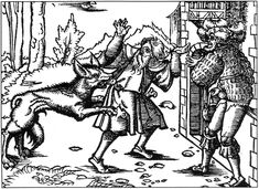 As a kid, I obsessed with the supernatural and had a bunch of books on different themes. I was absolutely enthralled with this woodcut of a werewolf attacking a man, originally from a 15th century German treatise on werewolves.