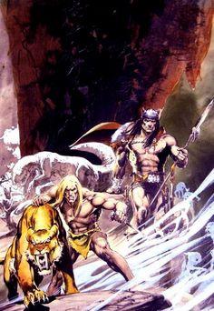 Savage Sword of Conan, couverture de Neal Adams