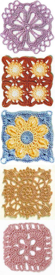 Openwork crochet squares. | KnitArt.ru