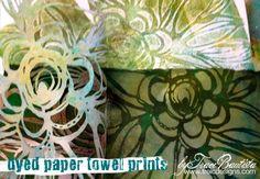 NEW StencilGirl stencils + video tutorial by traci bautista {dyed paper towel prints}