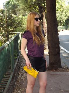 My Lovely World - Fashion Blog | Yellow,purple and black Outfit | http://mylovelyworld9.com