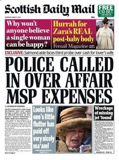 Twitter / ScotlandNow: Thursday's Scottish Daily Mail ...