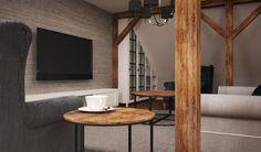 Drewniane belki w salonie - Lovingit.pl