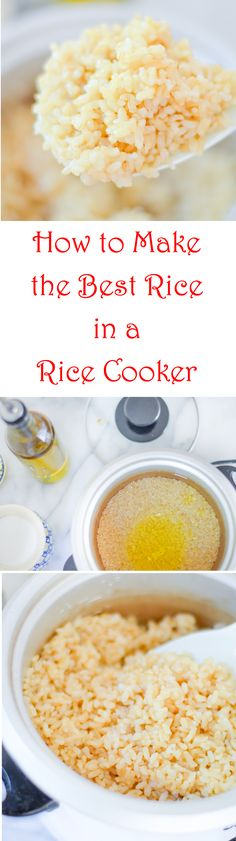 Best rice in rice cooker Try white rice and rice quinoa blends in this easy homemade recipe. How to Make Best Rice in Rice Cooker Ratio as well as How to Cook Quinoa in a Rice Cooker. Aroma Rice Cooker, Quinoa In Rice Cooker, Rice Cooker Recipes, Rice Recipes, Cooking Recipes, Quinoa Rice, Cooking Tips, Healthy Cooking, Asian Recipes
