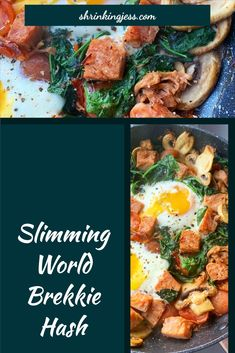This delicious brekkie hash will keep you full until lunch! Completely syn free and filling you really can't go wrong with this one! Slimming World Dinners, Slimming World Breakfast, Vegetarian Breakfast, Vegetarian Recipes, Syn Free, Cherry Tomatoes, Food And Drink, Meals, Cooking
