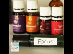 Focus roller bottle with essential oils for hyper kids - Early Bird Mom