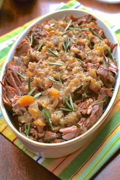 Slow Cooker Apple Rosemary Pork Roast (Whole 30, SCD, GAPS, AIP, WAPF)