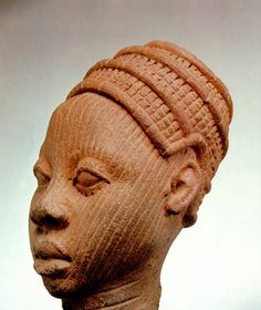"""Nigeria; Yoruba (Ife) peoples Head Clay H. 16 cm (6 1/4"""") National Museum, Lagos, Nigeria, 79.R.6 (Ife 305) Photo by Dirk BakkerTap or click the image for more info."""