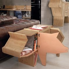 Pig Cabinet . Amazing design with a smile :-)