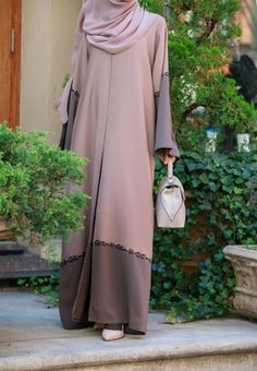 Saalihah Abaya – Al Shams Exceptional Islamic Apparel Burqa Designs, Abaya Designs, Muslim Women Fashion, Islamic Fashion, Niqab Fashion, Fashion Dresses, Abaya Pattern, Modele Hijab, Mode Abaya