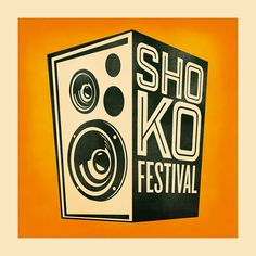 The official logo for Shoko Festival... A boom box how cool is that?