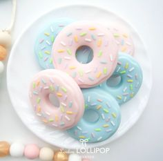 The donut teethers we found at Spearmint Love are deliciously cute!