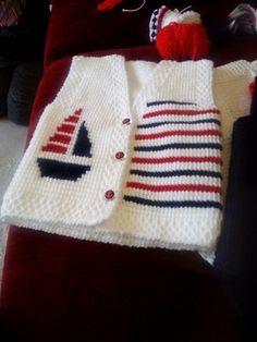 Vest Knitwear for years occurs to be trendy. Knitwear may be very numerous. There are many sorts equivalent to for … Baby Cardigan Knitting Pattern Free, Baby Boy Knitting Patterns, Knitted Baby Cardigan, Knit Baby Sweaters, Knitting Stitches, Knit Patterns, Hand Knitting, Tapestry Crochet, Crochet Baby