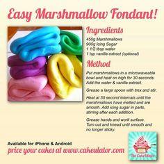 Marshmallows fondant