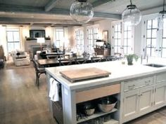 Open Living, dining and kitchen