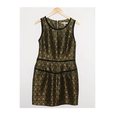 Forever 21 Black and Gold Metallic Dress - Size L WHAT'S FOR SALE:Up for sale is an amazing FOREVER 21 DRESS! With Front Pockets  SIZE:US Women's Size L Length - 33 inches Armpit to Armpit - 15.5 inches  CONDITION:Pre-owned and in good condition!  MATERIALS: 100% Polyester Forever 21 Dresses Midi