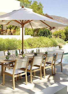 Best Teak Images On Pinterest Outdoor Living Rooms Outdoor - Best teak outdoor dining table