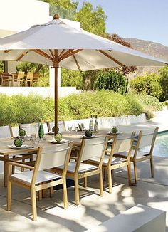 Coastal Teak Outdoor Dining.