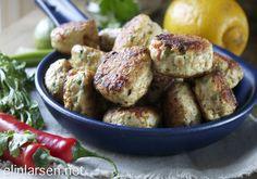 Thailandske kyllingboller Potato Salad, Spaghetti, Turkey, Potatoes, Chicken, Meat, Ethnic Recipes, Food, Meal