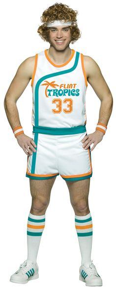 fa8d6909d Flint Tropics Semi Pro Jackie Moon Basketball Uniform Costume: This is the  prefect Jackie Moon costume complete with everything you need to become a  Flint ...