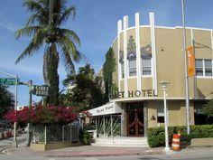 Cadet Hotel in the Art Deco District of Miami Beach, Florida.