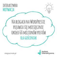 [PONIEDZIAŁEK - CYTAT] W końcu jest to najczęściej wybierana przez blogerów platforma!  #cytat #motywacja #poniedziałek #quote #motivation #jesteminteraktywna #inspiracja #inspiration