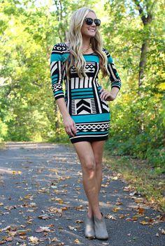 lovin the pattern! | Dress With Print, Printed Dress