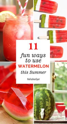 11 ways to use watermelon this summer Eating Healthy, Healthy Food, Clean Eating, Yummy Food, Healthy Recipes, Watermelon Keg, Bacon Sandwich, Ice Pops, Food N